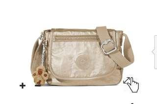 Kipling Sabian Toasty Gold Crossbody Sling Bag Authentic