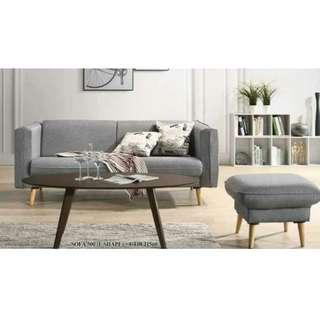 NEW JJ500 3 SEATER SOFA WITH STOOL