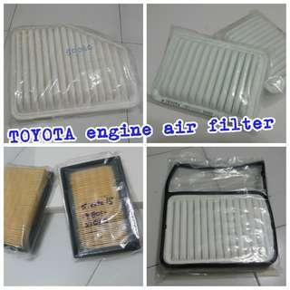 TOYOTA engine air filter, cabin aircon filter, wiper, armrest console box