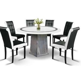 NEW DENSON MARBLE DINING SET
