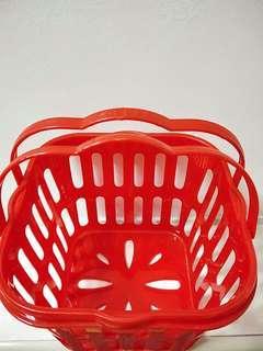 Red square basket