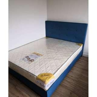 NEW NAVY BLUE QUEEN BED FRAME