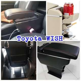 Toyota WISH armrest console box compartment