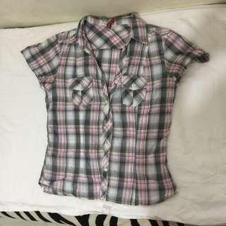 H&M checkered top