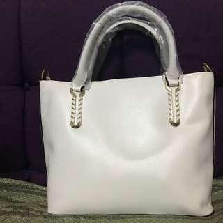 2 way bag from malaysia /white bag