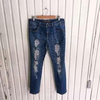 Justice skinny ripped jeans