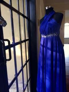 Elegant Royal Blue Gown