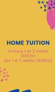 Looking for home tuition? Pm me now!