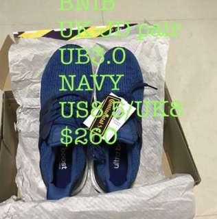Ultra Boost  3.0 UK 8 US 8.5 Core Blue UK Pair Ultraboost BNIB  With box With receipt $260 $240 (now) *Brought At UK JD