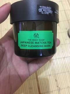 Japanese matcha tea deep cleansing mask