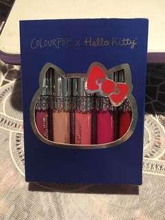 colourpop hellokitty puroland lip set mini