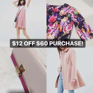 $12 OFF $60 PURCHASES