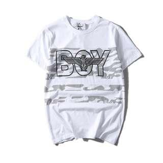 BNWT White  /BlackTrendy Graphic Tee (Slightly Stretchable)