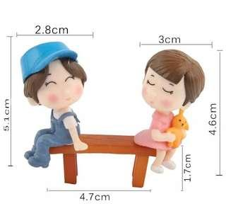 1 x Set = Sweet Couple + Bench (3 Pieces)