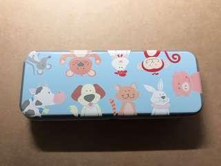 🚚 💙藍色動物鉛筆盒