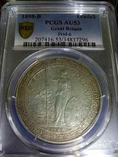 1898 b $1 dollar
