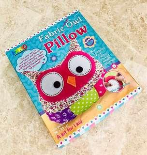 Fabric Owl Pillow Kit - with free gift