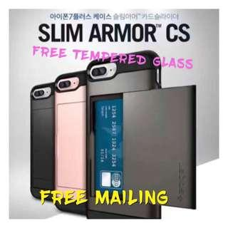 BUY 2 GET 1 FREE! IPHONE 7,7+,8,8+ ARMOURED CASING