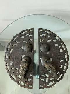 舊式銅質門扣一對