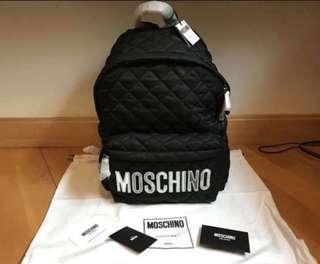 Moschino big size 大size backpack 背包 (黑色金字/黑色銀字/黑色黑字)