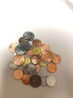 外幣,30國,錢幣,舊版人民幣,收藏幣,外國錢幣 外幣,外國硬幣,1份30個,30個國家(地區)