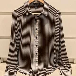 stripe shirt brown black