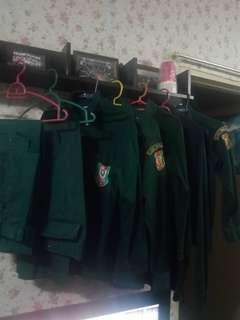 Baju kedet remaja uniform