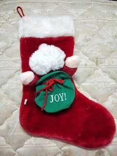 絨毛聖誕老公公大禮品襪聖誕襪 禮物襪