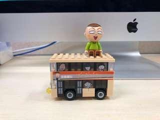 7-11小丸子lego 豬太郎巴士