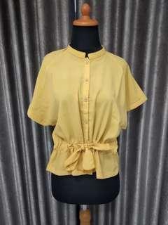 Yellow Shirt (Kemeja peplum)