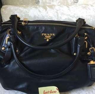 PRADA Nero Soft Calf Leather Handbag