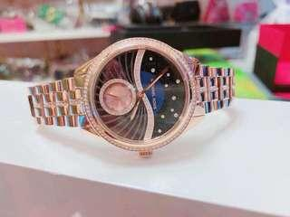 Micheal Kors Lauryn Rose Gold Strap Watch