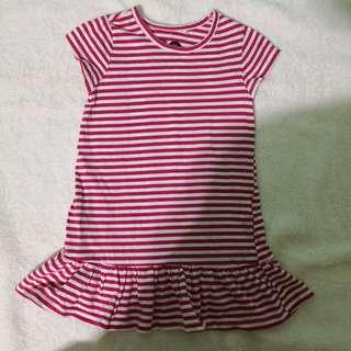 Cotton On Kids Red Stripes Dress (2T)