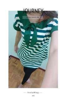 Green top shirt (size S)