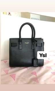Authentic YSL ( Yves Saint Laurent) Sac De Jour Nano Bag
