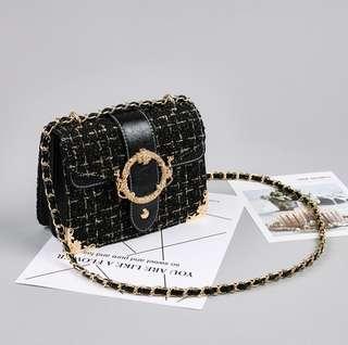 Elegant Tweed Sling Bag