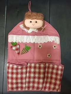 公仔娃娃收納袋(粉紅色)