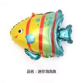Mini Striped Fish Foil Balloon