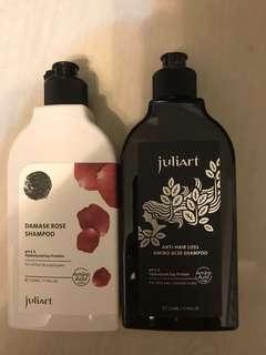 🚚 覺亞juliart大馬士革玫瑰精萃洗髮精+健髮賦活胺基酸洗髮精