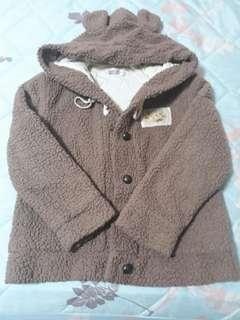 熊熊 內舖棉連帽毛外套 女童/男童 皆可穿