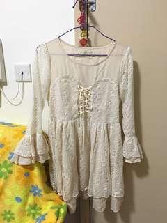 宮廷風刺繡連身裙 Lace Dress
