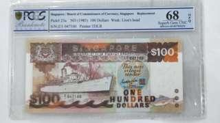 $100, Replacement note Z/1 GKS