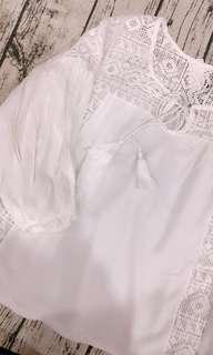 🚚 超喜歡💕棉麻娃娃裝 流蘇簍空娃娃棉衫
