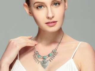 Choices of Bohemian Necklace, And Earrings With Attractive Crystal Bracelet