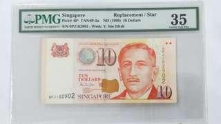 $10, Replacement note. 0PJ