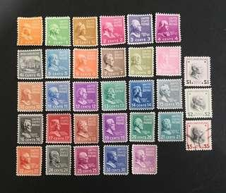 USA 1938 -1939. Presidential issue