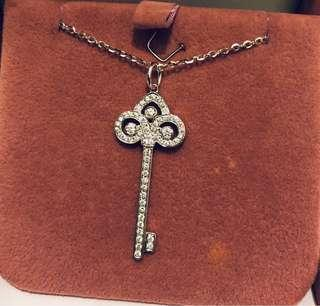 18K 750 36份 鑽石 鎖匙 吊墜 Tiffany 款式