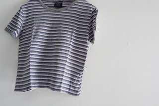 petite stripe shirt grey