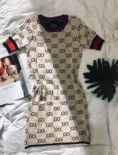 Gucci Inspired Knitted Dress