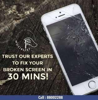 💥15min iPhone Crack Screen Repair , Battery Replacement🌟